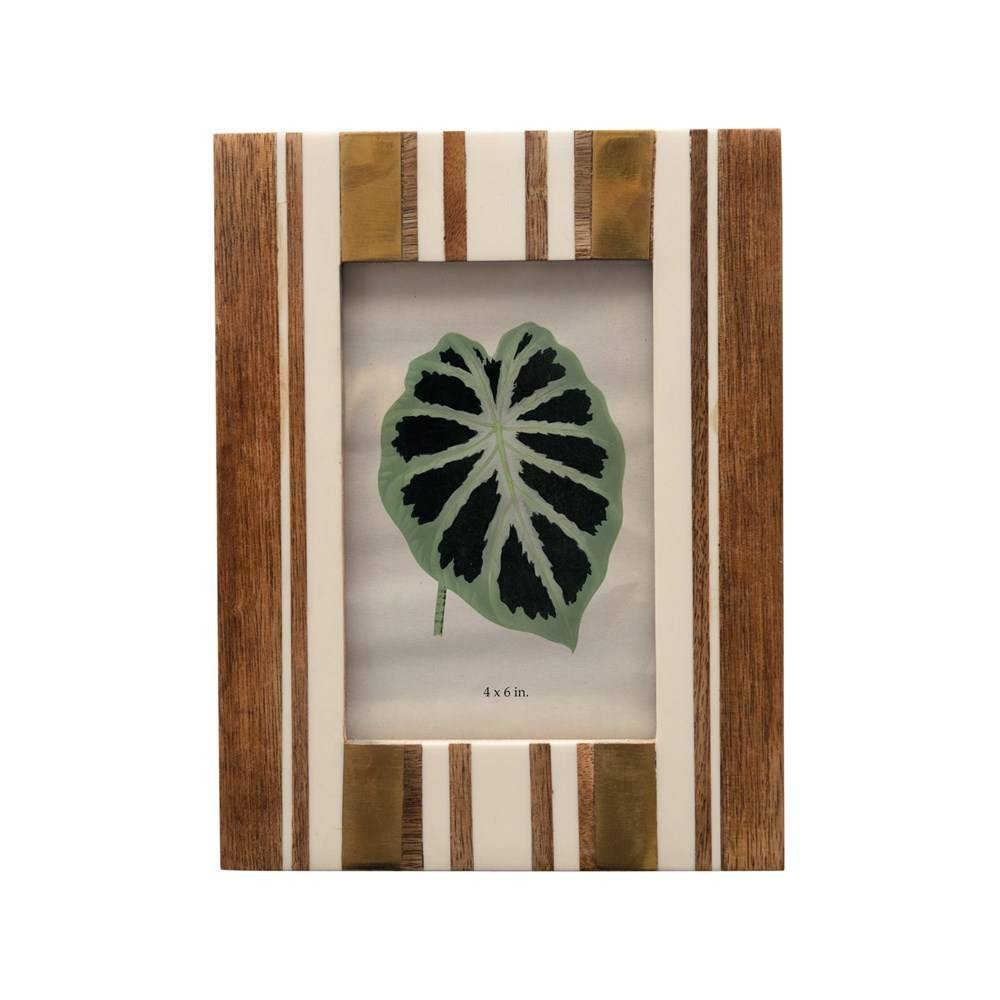 4x6 MDF & Resin Striped Photo Frame HOME & GIFTS - Home Decor - Wall Decor + Mirrors Creative Co-Op Teskeys