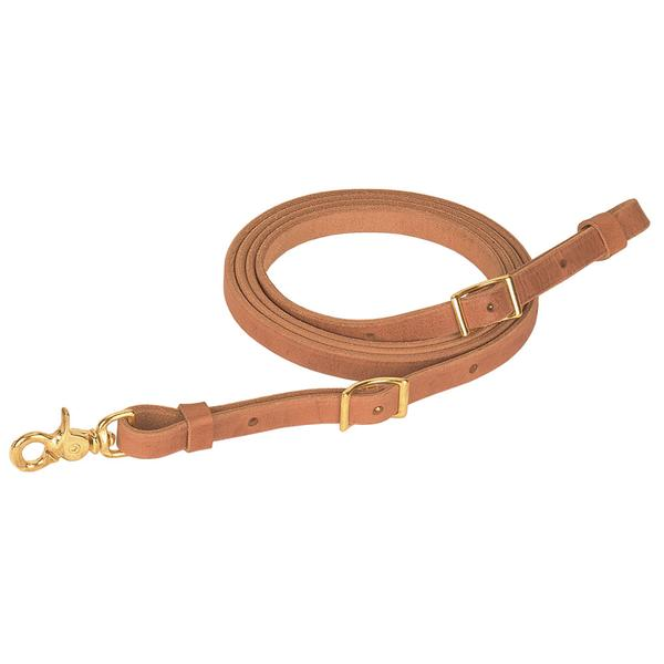 Harness Leather Flat Roper Reins by Weaver Tack - Reins Weaver Teskeys