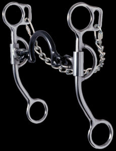 "Molly Powell ""Rate & Turn"" - Ported Chain Bit by Reinsman Tack - Bits, Spurs & Curbs - Bits - Port Reinsman Teskeys"
