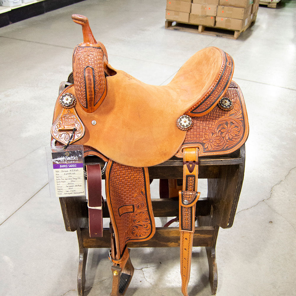 "14"" JEFF SMITH XTREME BARREL SADDLE Saddles - New Saddles - BARREL Jeff Smith Teskeys"