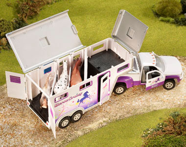 Horse Crazy Truck & Trailer Farm & Ranch - Toys and DVDs Breyer Teskeys