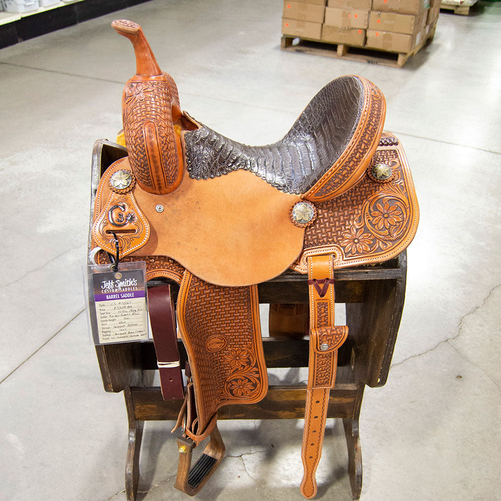 "13.5"" JEFF SMITH C3 BARREL SADDLE Saddles - New Saddles - BARREL Jeff Smith Teskeys"