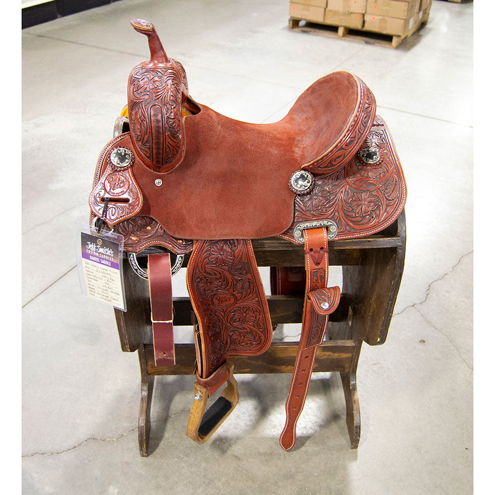 "14"" JACKIE GANTER JEFF SMITH BARREL SADDLE Saddles - New Saddles - BARREL Jeff Smith Teskeys"