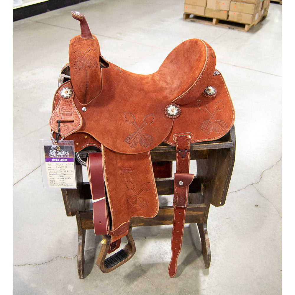 "13.5"" XTREME JEFF SMITH BARREL SADDLE Saddles - New Saddles - BARREL Jeff Smith Teskeys"