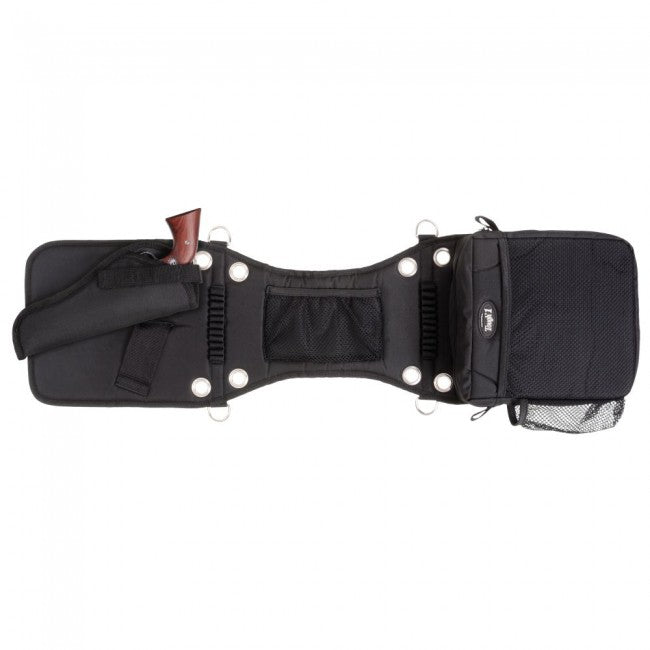 Tough-1 Saddle Bag/Gear Carrier with Gun Holster Saddles - Saddle Accessories Tough 1 Teskeys