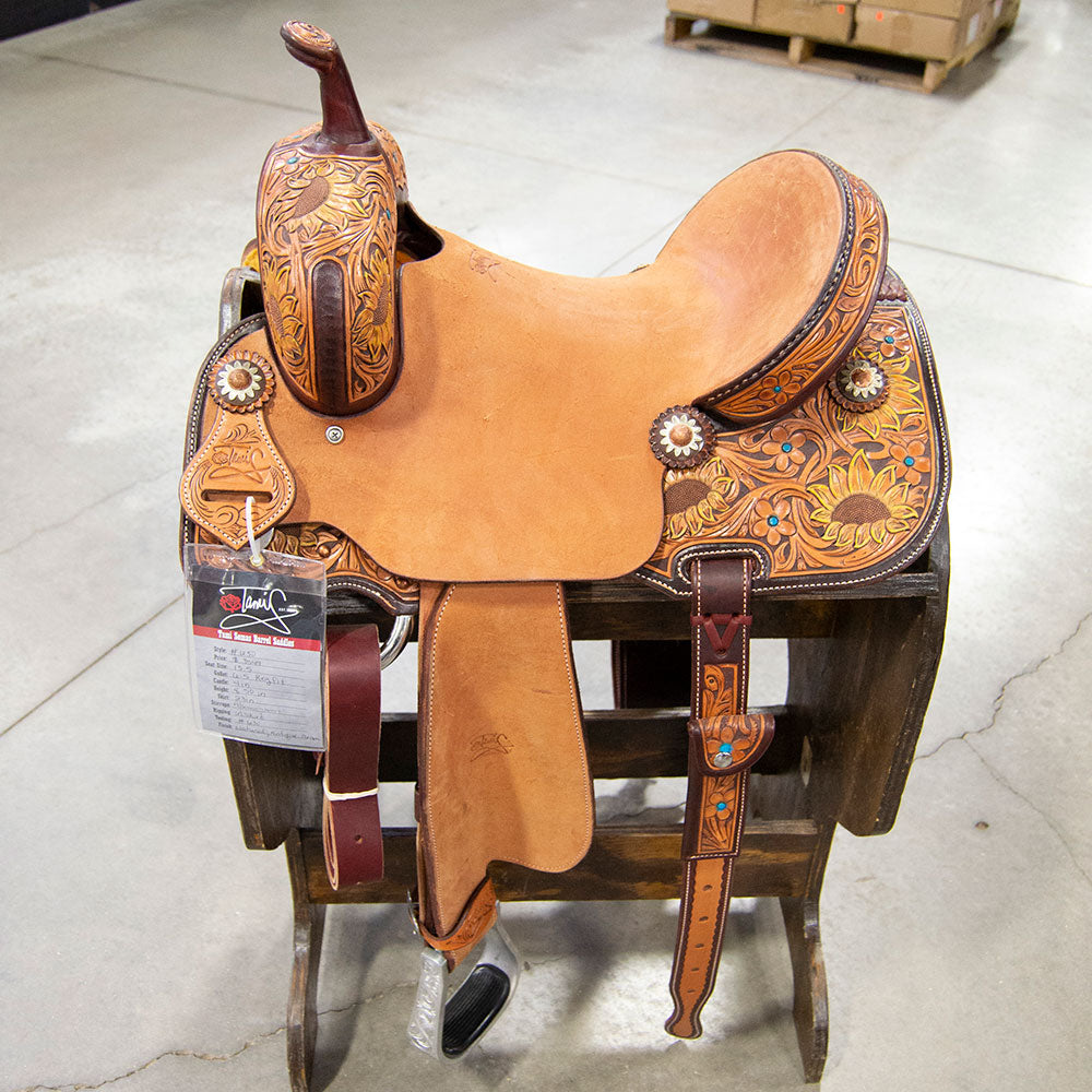 "13.5"" TAMI SEMAS BARREL SADDLE Saddles - New Saddles - BARREL Tami Semas Teskeys"
