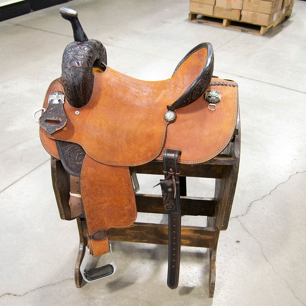 "14"" DOUBLE J BARREL SADDLE Saddles - New Saddles - BARREL DOUBLE J SADDLERY Teskeys"