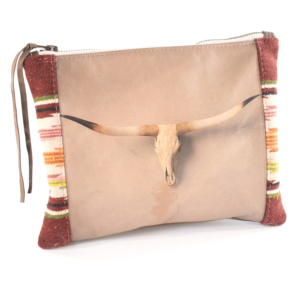 Totem Faded Skull Serape Clutch WOMEN - Accessories - Handbags - Clutches & Pouches TOTEM SALVAGED Teskeys