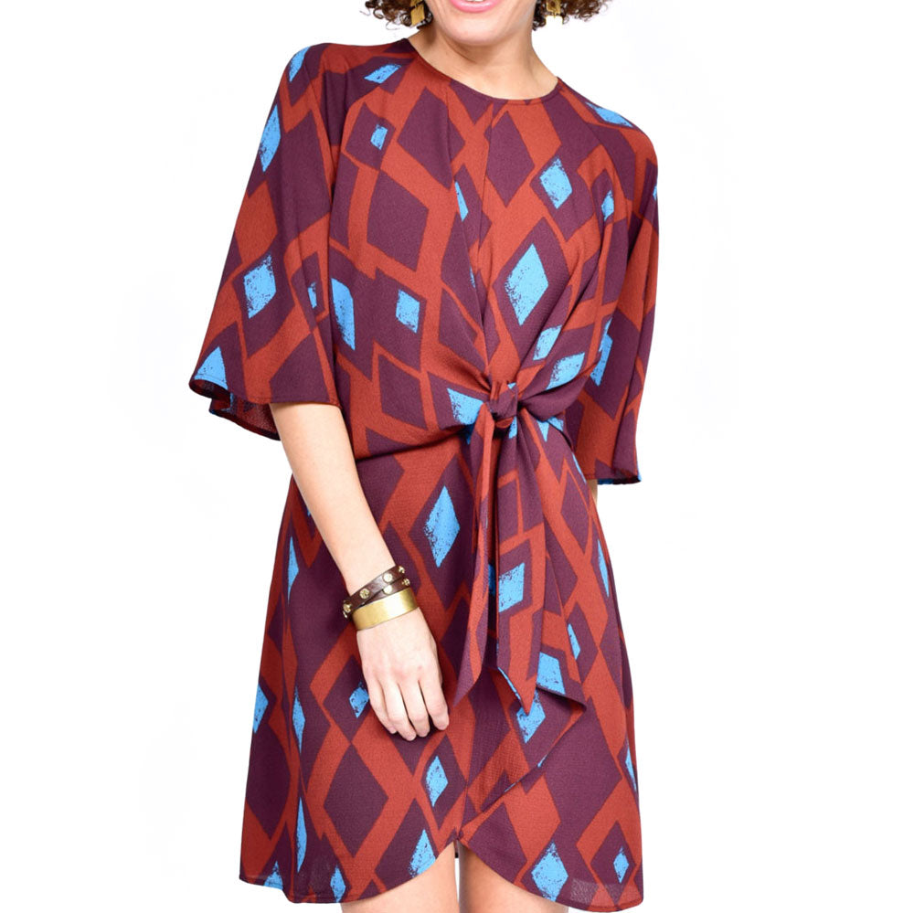 Uncle Frank Raglan Dress with Tie Front WOMEN - Clothing - Dresses UNCLE FRANK Teskeys