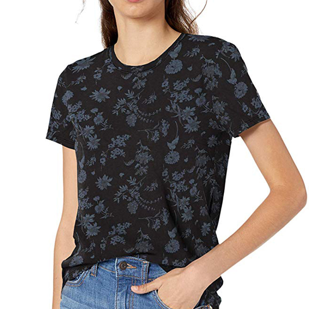 Floral Crew Neck Printed Tee WOMEN - Clothing - Tops - Short Sleeved LUCKY BRAND JEANS Teskeys