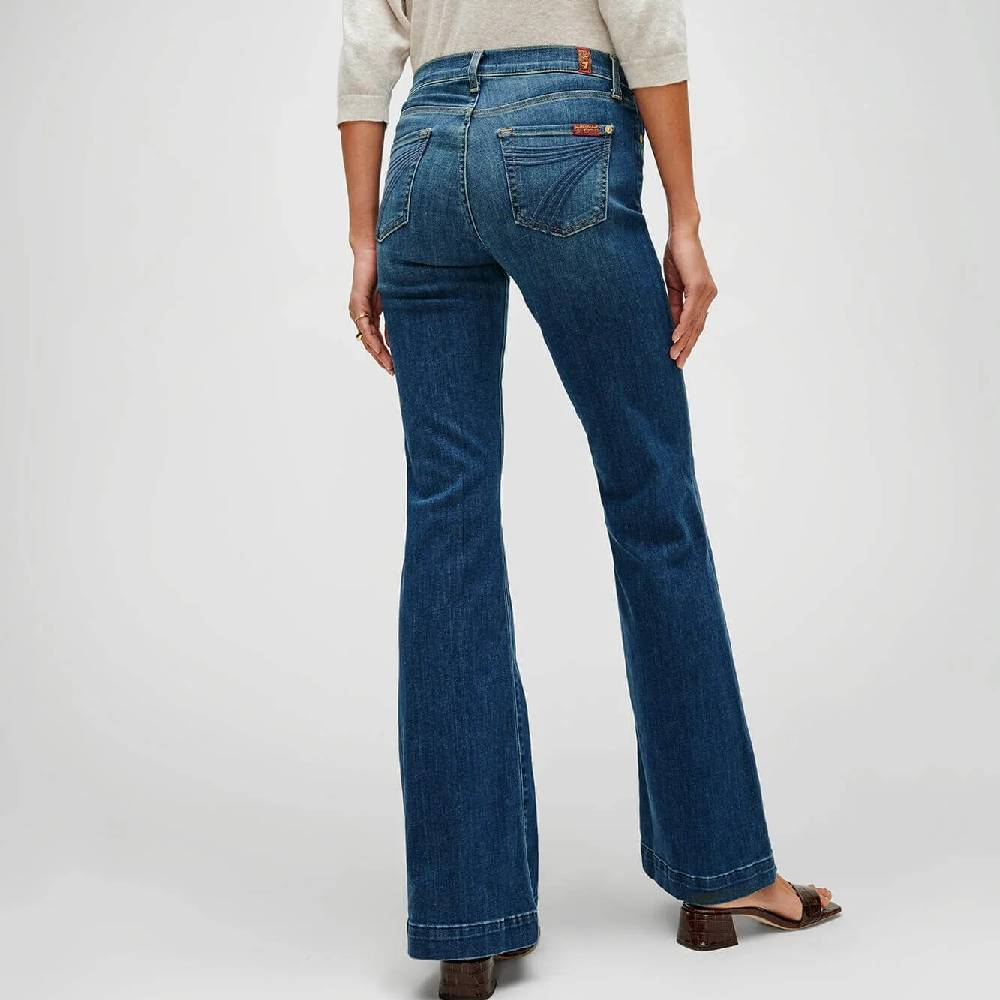 7 For All Mankind Dojo Trouser - Medium Melrose WOMEN - Clothing - Jeans 7FAM Teskeys
