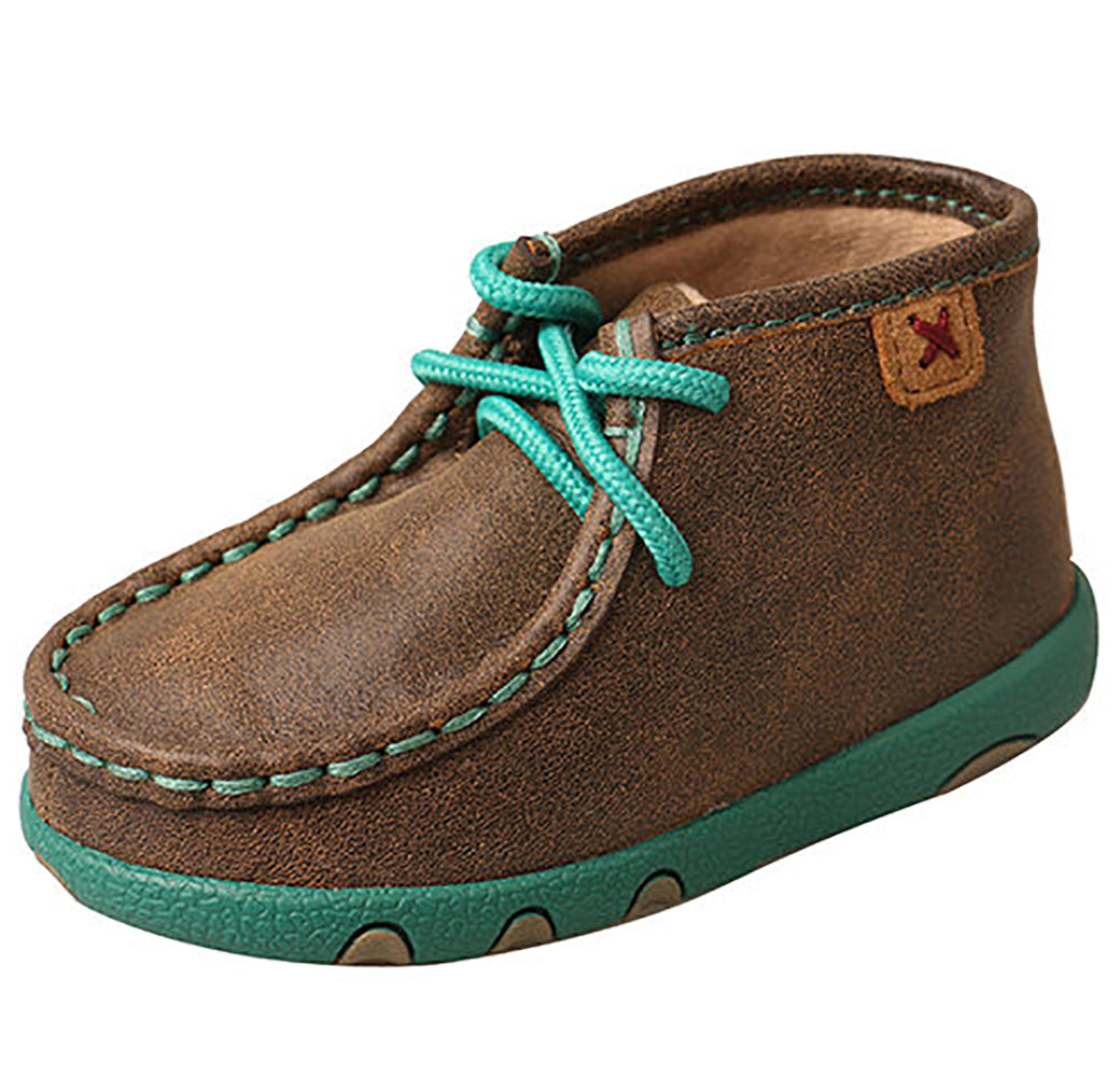 Twisted X Infant Chukka Turquoise Driving Moc