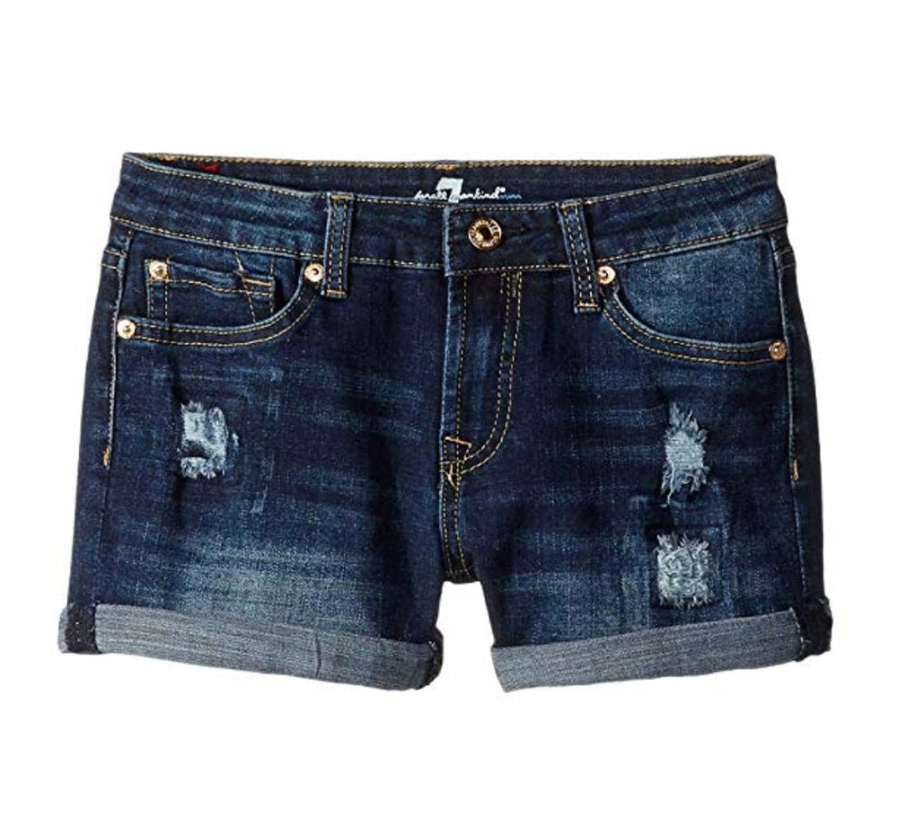 Rolled Cuff Denim Shorts KIDS - Girls - Clothing - Shorts 7FAM KIDS Teskeys