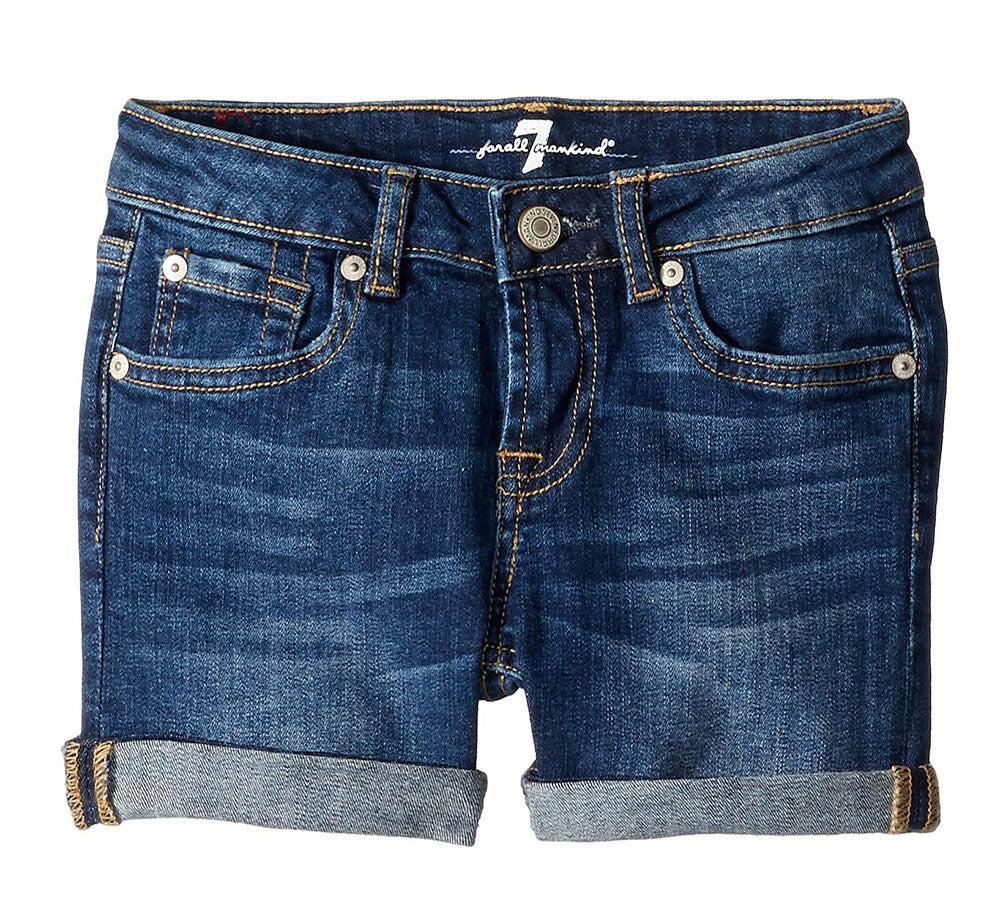 Girls Rolled Cuff Shorts KIDS - Girls - Clothing - Shorts 7FAM KIDS Teskeys