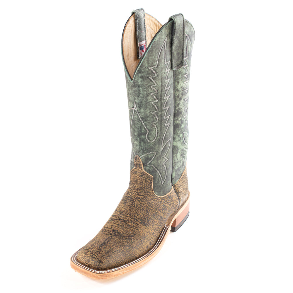 Anderson Bean Saddle Safari Giraffe Boot MEN - Footwear - Exotic Western Boots ANDERSON BEAN BOOT CO. Teskeys