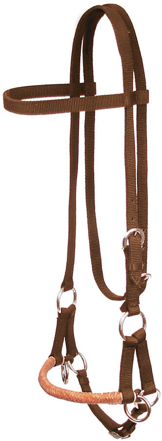 SIDE PULL WITH RAWHIDE NOSEBAND Tack - Training Teskeys Teskeys