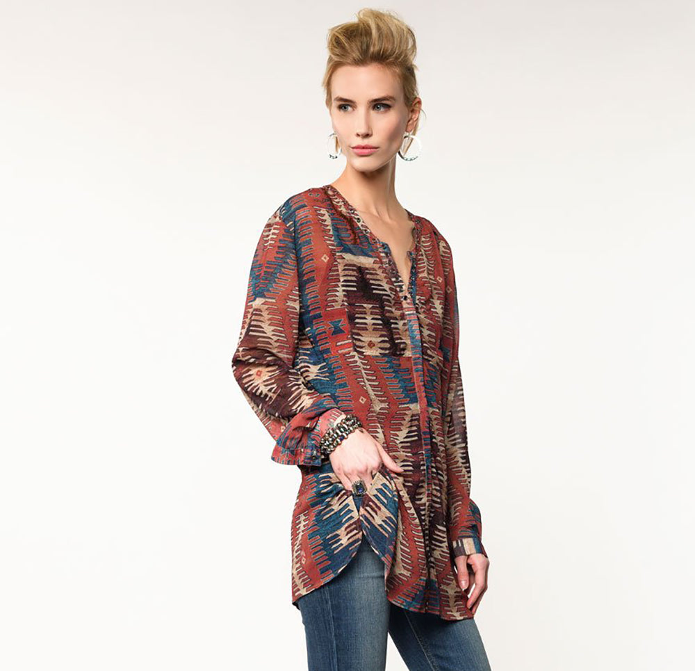 Double D Ranch Granger Top WOMEN - Clothing - Tops - Long Sleeved DOUBLE D RANCHWEAR, INC. Teskeys