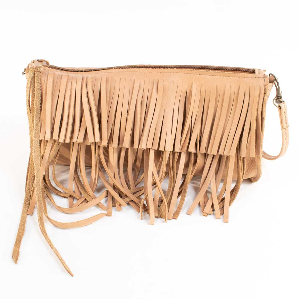 Fringe Clutch Taupe WOMEN - Accessories - Handbags - Clutches & Pouches MCFADIN Teskeys