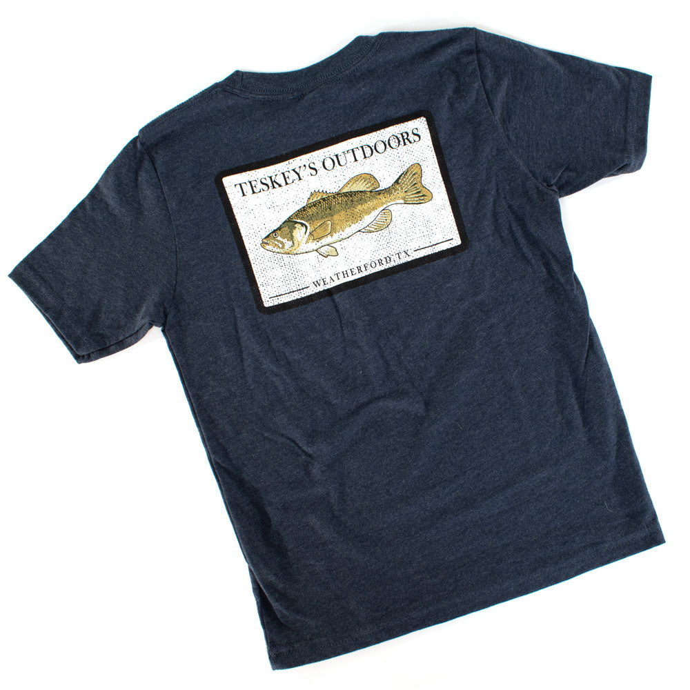 Teskey's Youth Bass Tee TESKEY'S GEAR - Youth SS Shirts OURAY SPORTSWEAR Teskeys