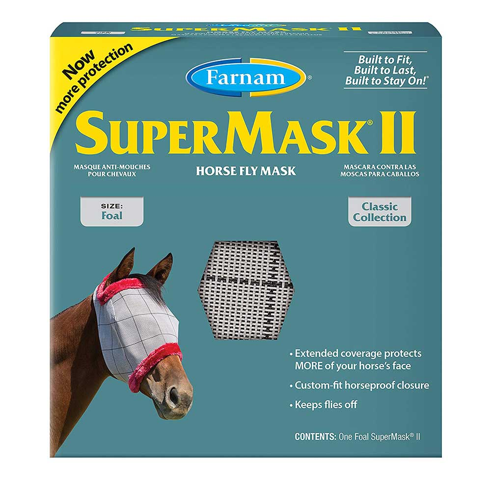 SuperMask Foal Fly Mask FARM & RANCH - Animal Care - Equine - Fly & Insect Control - Fly Masks & Sheets Farnam Teskeys