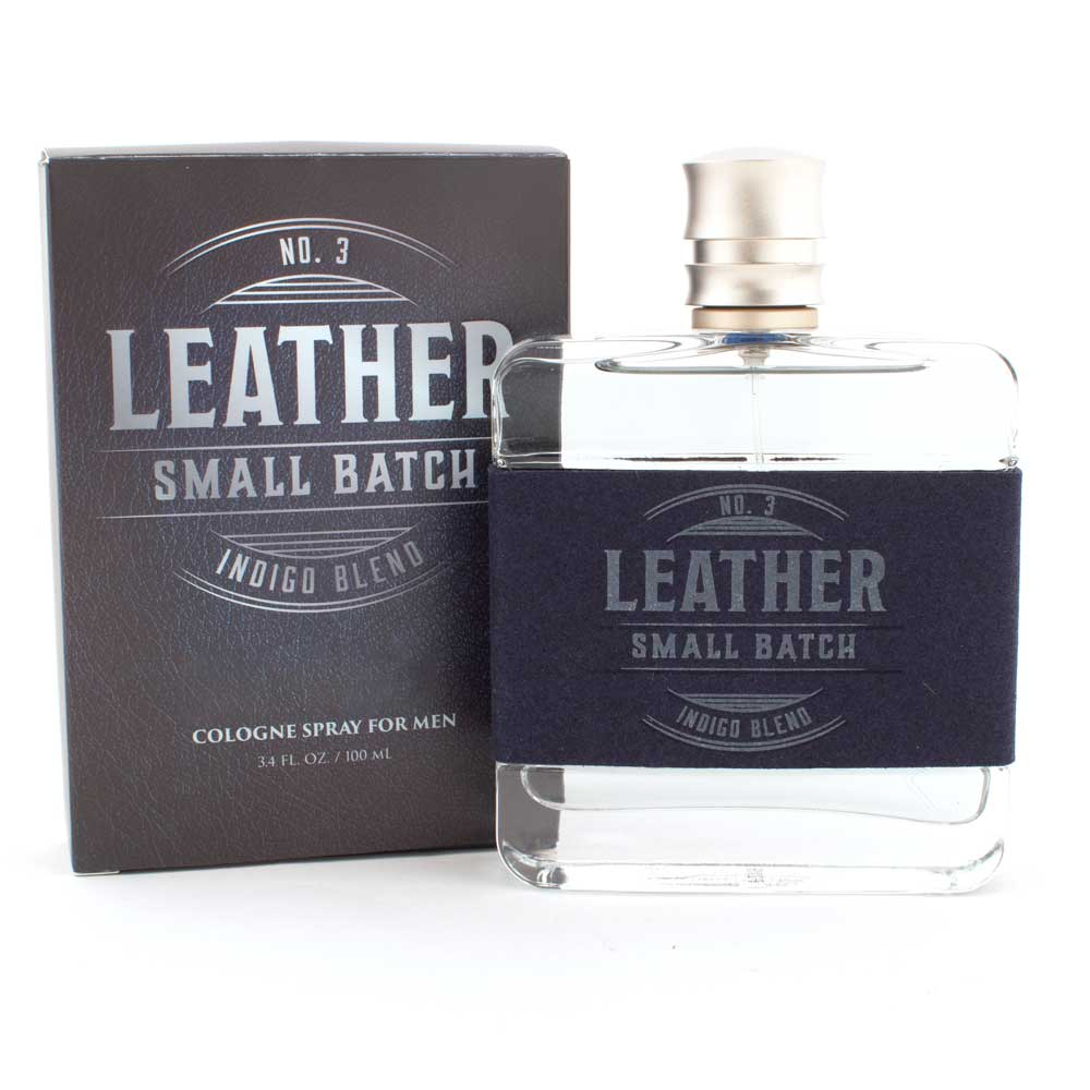 Leather Small Batch No. 3 Indigo Blend Cologne, 3.4oz MEN - Accessories - Grooming & Cologne TRU FRAGRANCE Teskeys