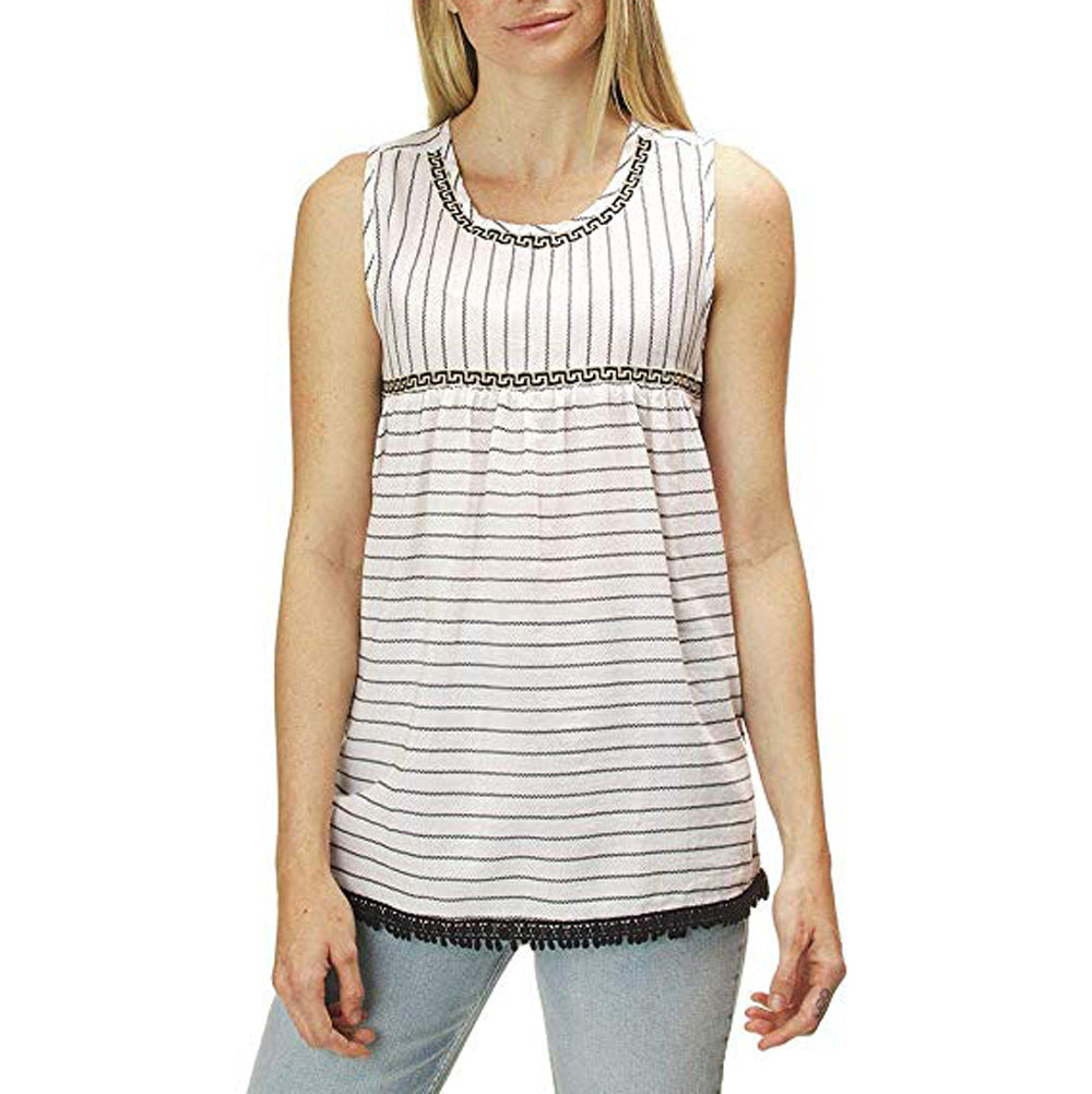 Dylan Chic Stripe Tank Top WOMEN - Clothing - Tops - Sleeveless DYLAN Teskeys