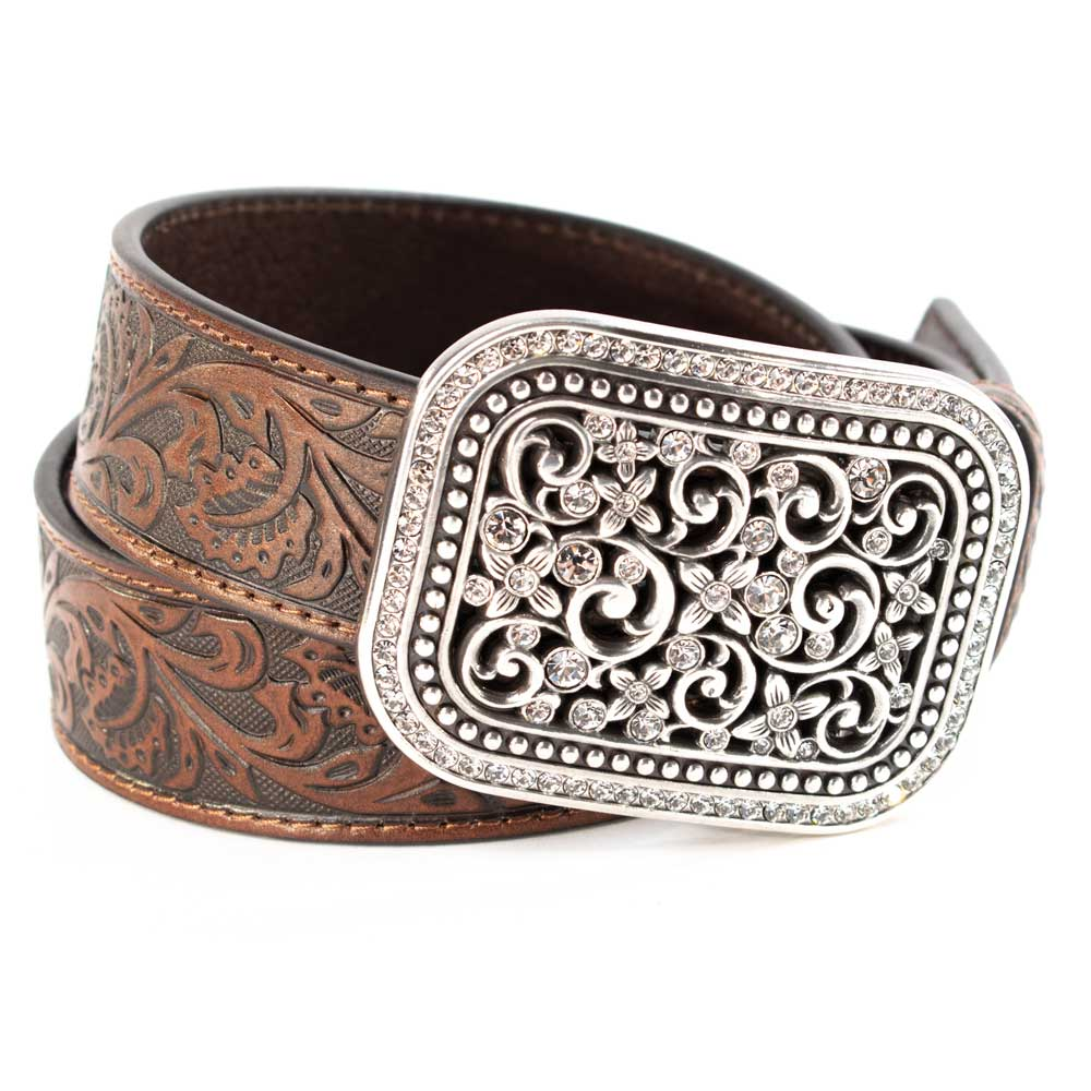 Ariat Women's Rhinestone Filigree Belt WOMEN - Accessories - Belts M&F Western Products Teskeys