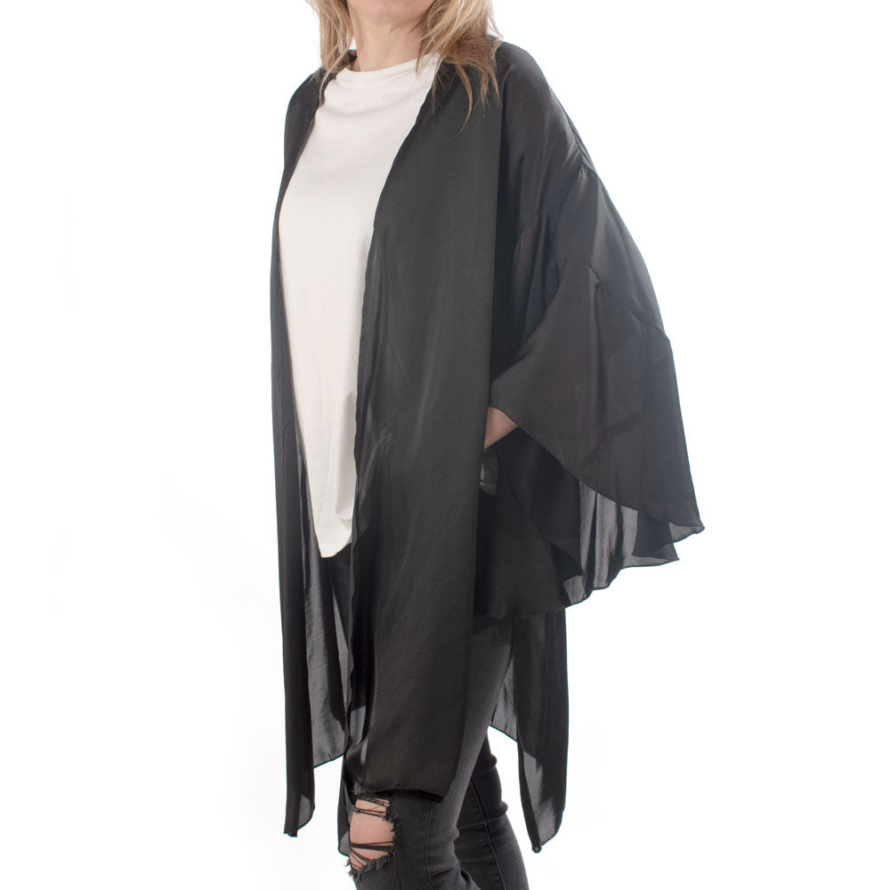 Aunt Wanda Side Slit Long Kimono WOMEN - Clothing - Sweaters & Cardigans IVY JANE Teskeys