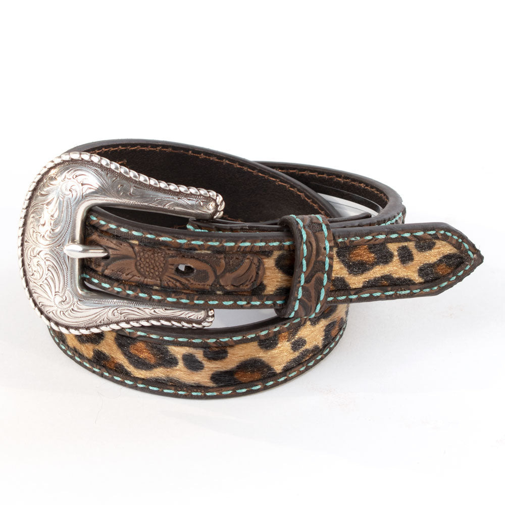Ariat Girls Leopard Turquoise Stitch Belt KIDS - Accessories - Belts M&F WESTERN PRODUCTS Teskeys