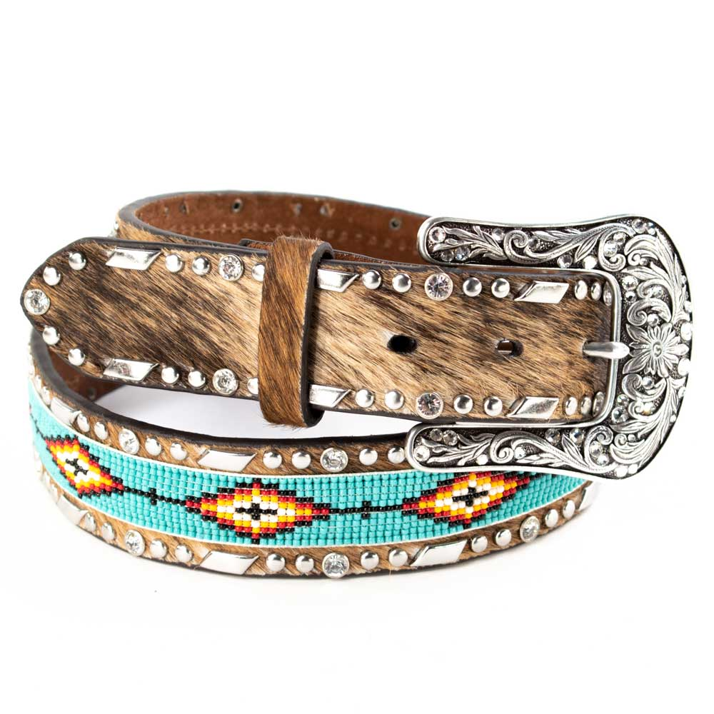 Ariat Women's Beaded Inlay Cowhide Belt WOMEN - Accessories - Belts M&F Western Products Teskeys