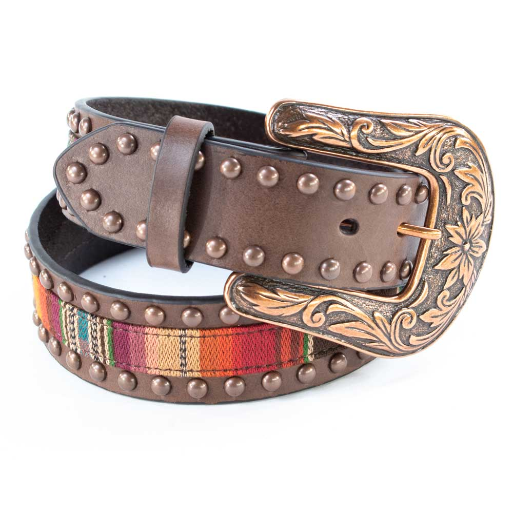 Ariat Women's Brown Serape Belt with Copper Studs WOMEN - Accessories - Belts M&F Western Products Teskeys