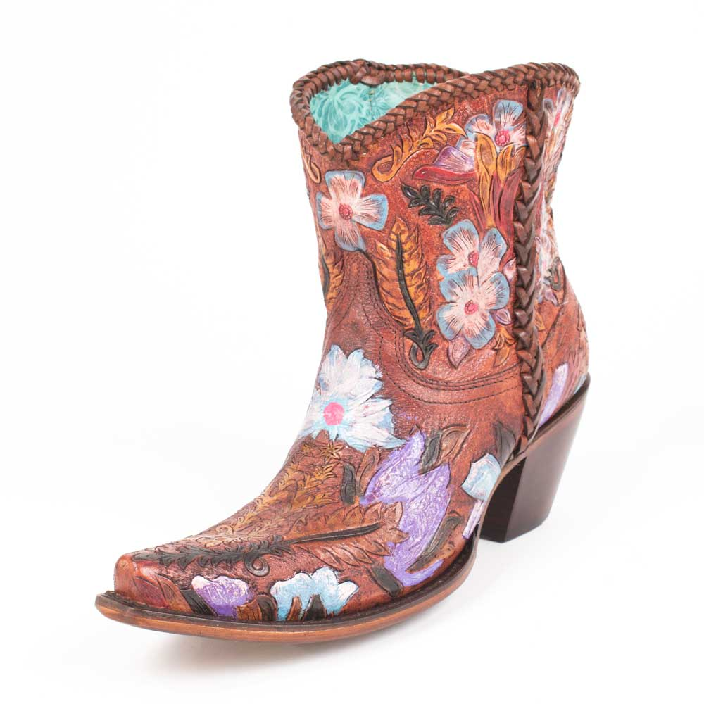 Corral Honey Tooled Ankle Bootie WOMEN - Footwear - Boots - Western Boots CORRAL BOOTS Teskeys