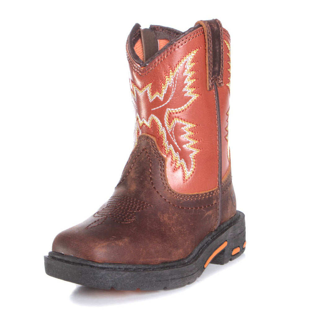 Ariat Chandler Brown Lil' Stompers Boot KIDS - Boys - Footwear - Boots M&F WESTERN PRODUCTS Teskeys