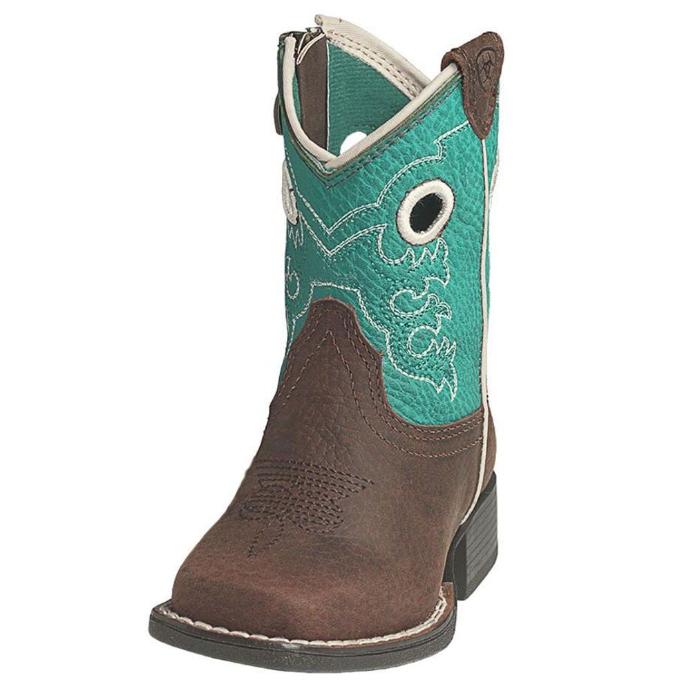 Ariat Crossfire Brown Lil' Stompers Boot KIDS - Boys - Footwear - Boots M&F WESTERN PRODUCTS Teskeys