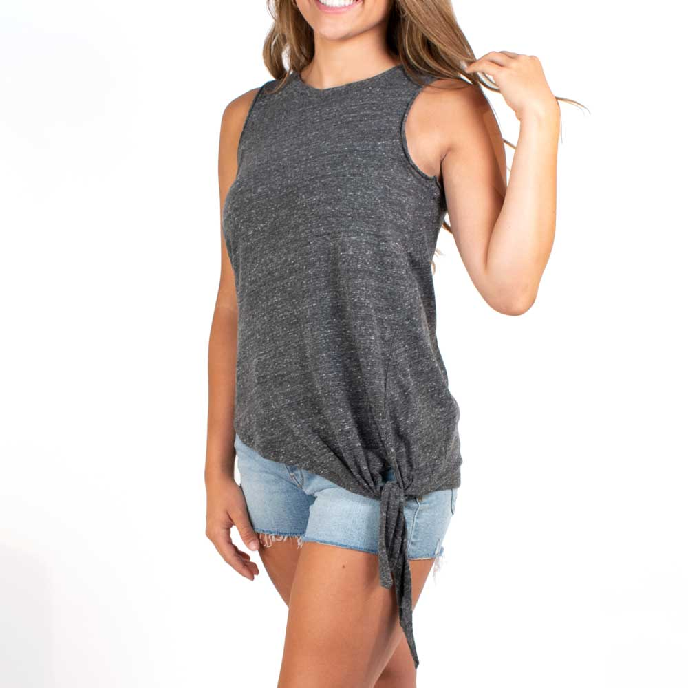 Dylan Melange Heather Side-Tie Tee WOMEN - Clothing - Tops - Short Sleeved DYLAN Teskeys