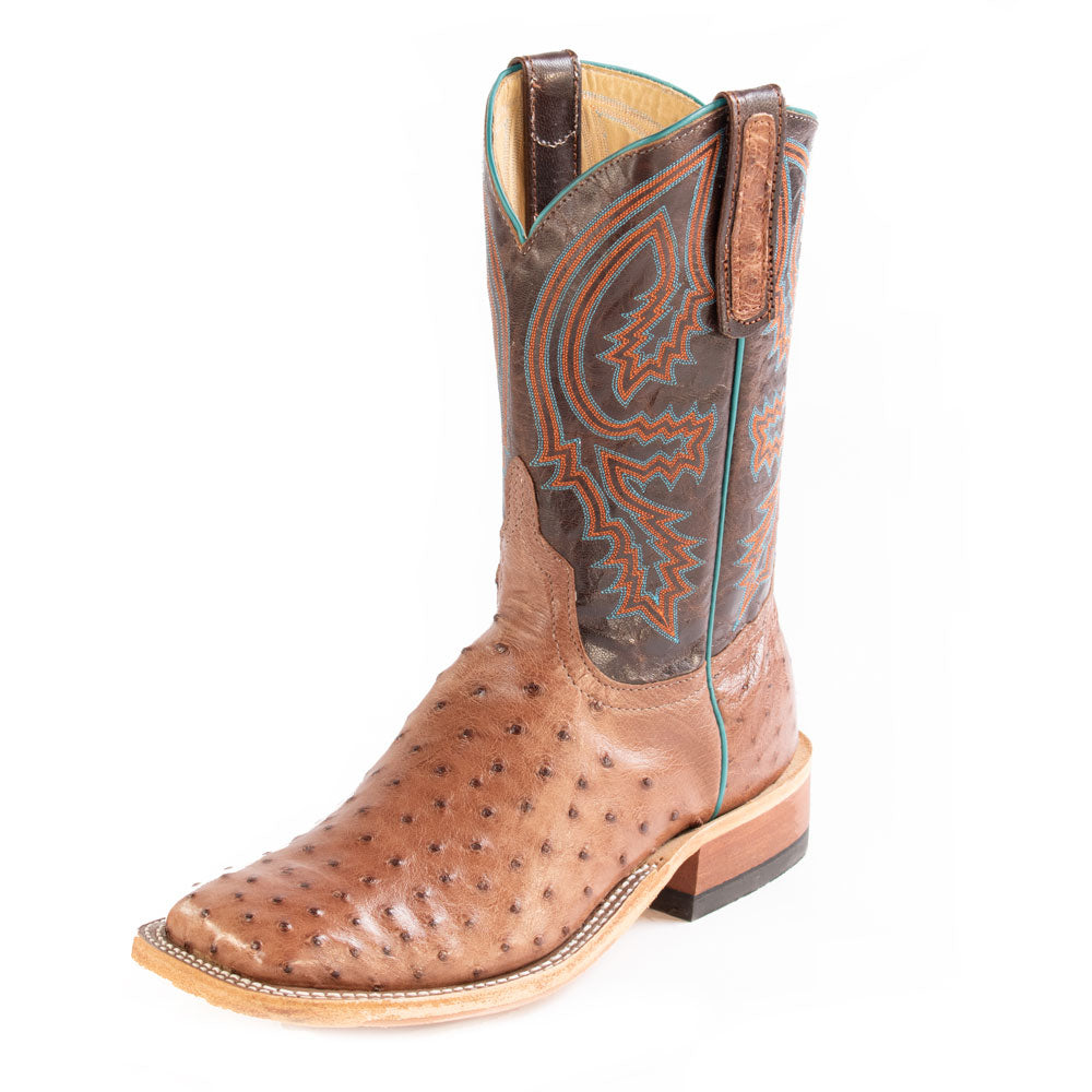 Anderson Bean Rum Full Quill Ostrich MEN - Footwear - Exotic Western Boots ANDERSON BEAN BOOT CO. Teskeys
