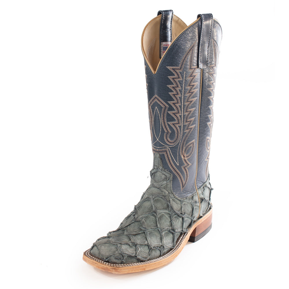 Titan Blue Big Bass Womens Boot WOMEN - Footwear - Boots - Exotic Boots ANDERSON BEAN BOOT CO. Teskeys