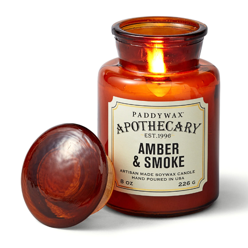 Amber & Smoke Apothecary Candle, 8oz HOME & GIFTS - Home Decor - Candles + Diffusers Paddywax Teskeys