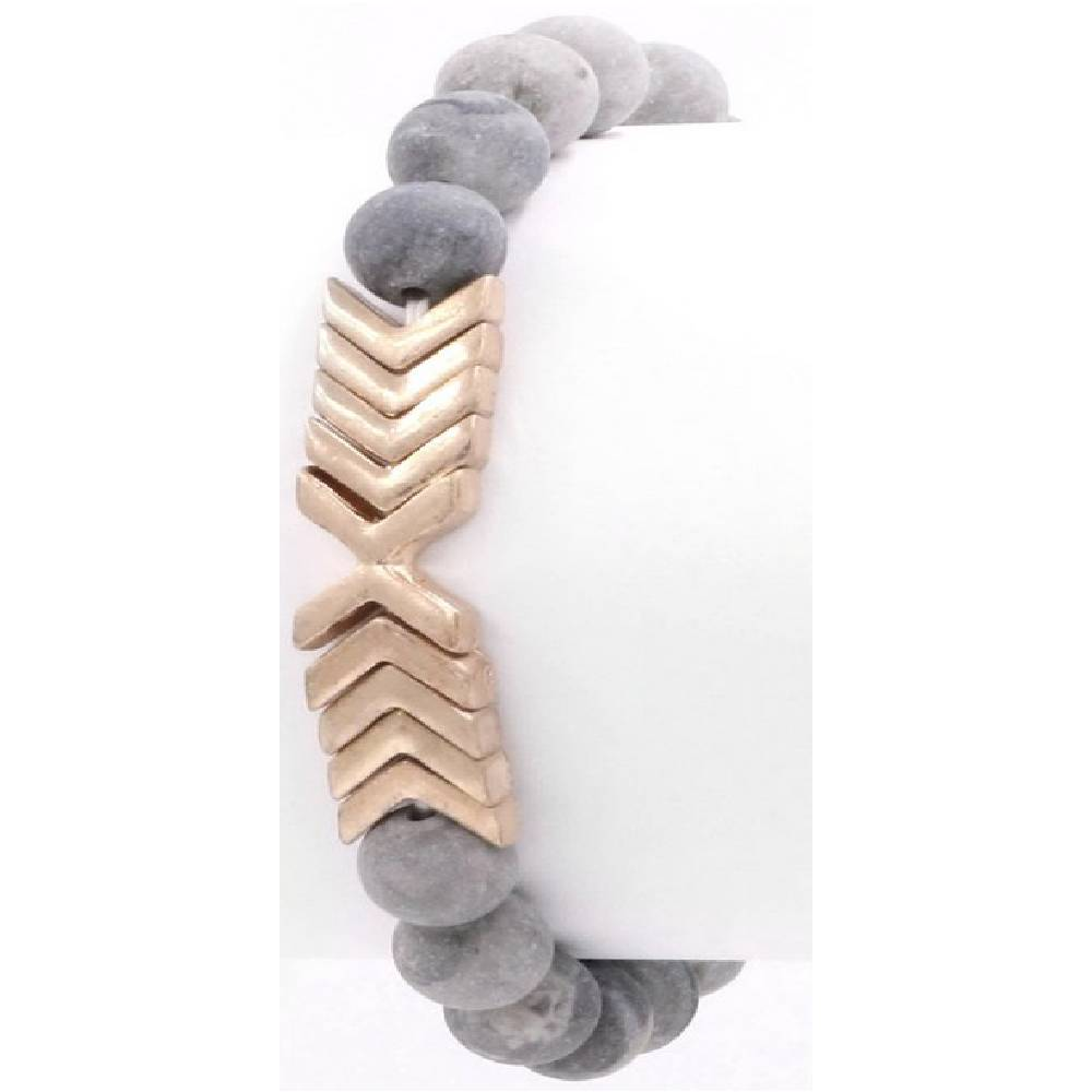 Chevron Jasper Bracelet WOMEN - Accessories - Jewelry - Bracelets ARTBOX JEWEL Teskeys