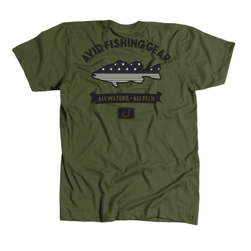 AVID Bass Mericana Tee - Army MEN - Clothing - T-Shirts & Tanks AVID SPORTSWEAR Teskeys