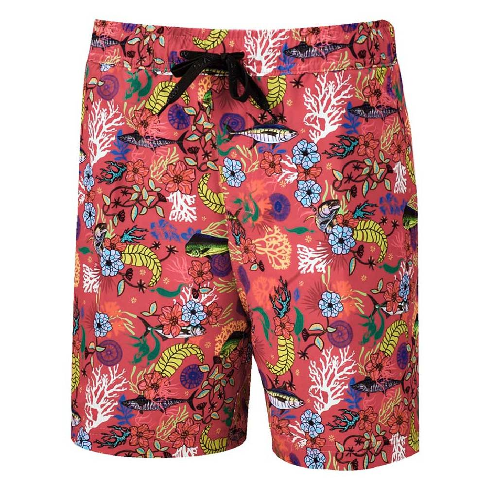 AVID Sandbar Volley Boardshort - Fish Floral Coral MEN - Clothing - Surf & Swimwear AVID SPORTSWEAR Teskeys