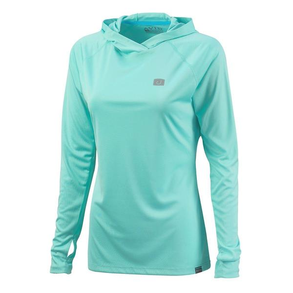 Womens Hooded AVIDry L/S (50+ UPF) WOMEN - Clothing - Tops - Long Sleeved AVID SPORTSWEAR Teskeys
