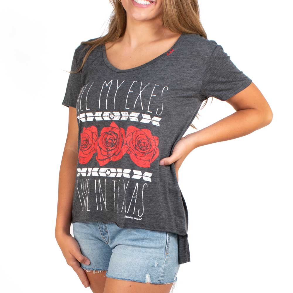 Bohemian Cowgirl All My Exes Tee WOMEN - Clothing - Tops - Short Sleeved BOHEMIAN COWGIRL Teskeys