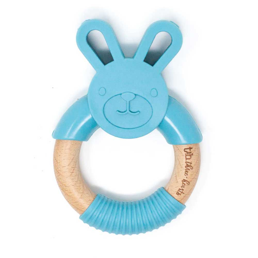 Bunny Ear Silicone Teether KIDS - Baby - Baby Accessories THREE HEARTS Teskeys