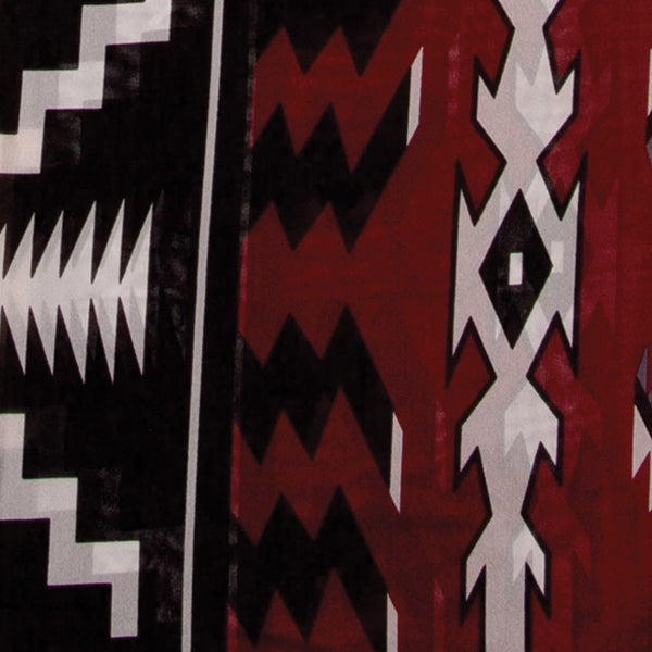 Aztec Silk Wild Rag - Maroon & Black ACCESSORIES - Additional Accessories - Wild Rags & Scarves WYOMING TRADERS Teskeys