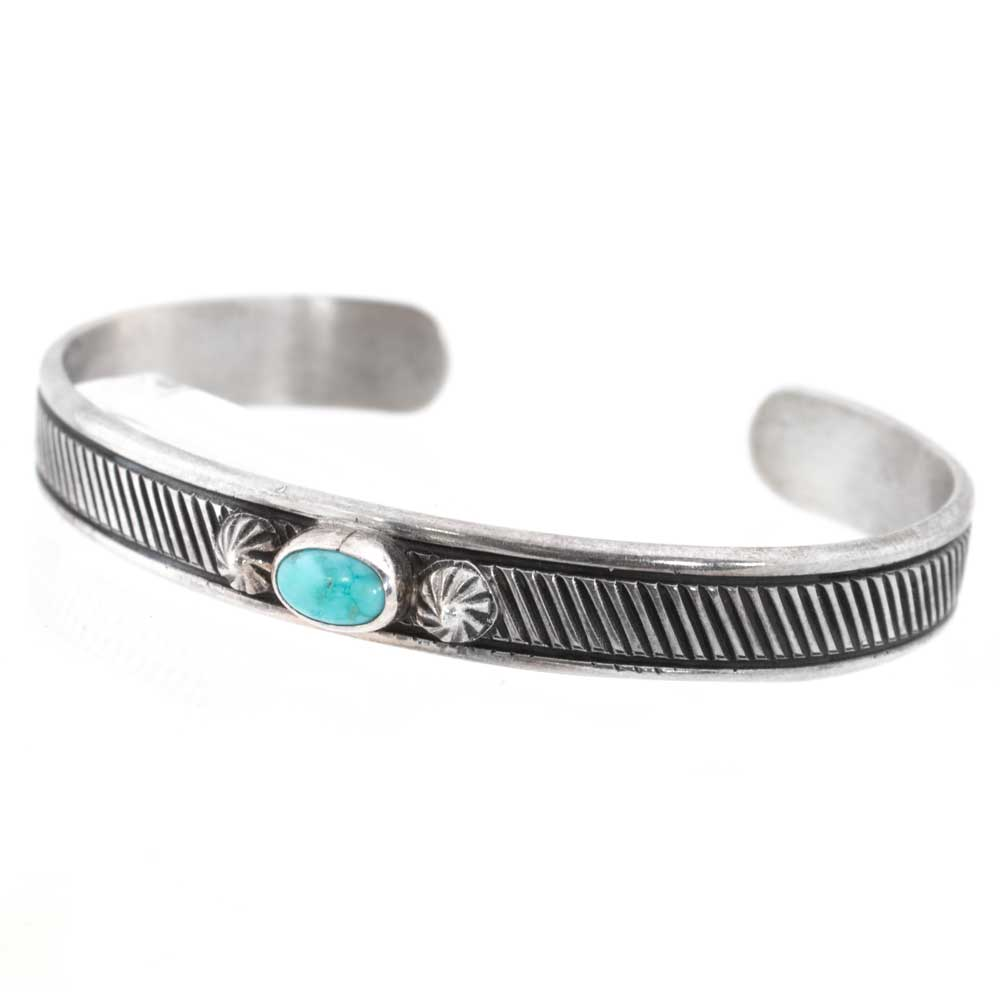 Peyote Bird Baby Silver & Turquoise Bracelet KIDS - Girls - Accessories PEYOTE BIRD DESIGNS Teskeys