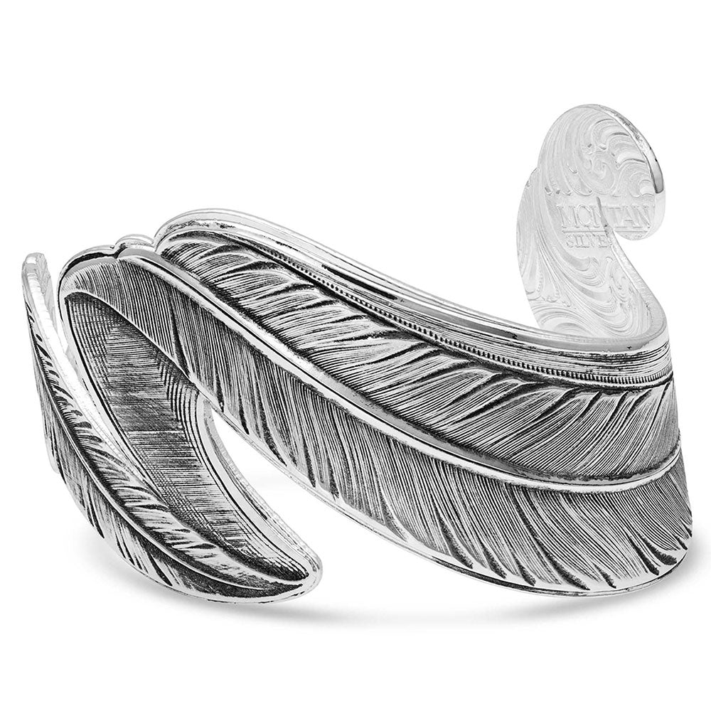 Montana Silversmiths Free Spirit Feather Cuff Bracelet WOMEN - Accessories - Jewelry - Bracelets Montana Silversmiths Teskeys