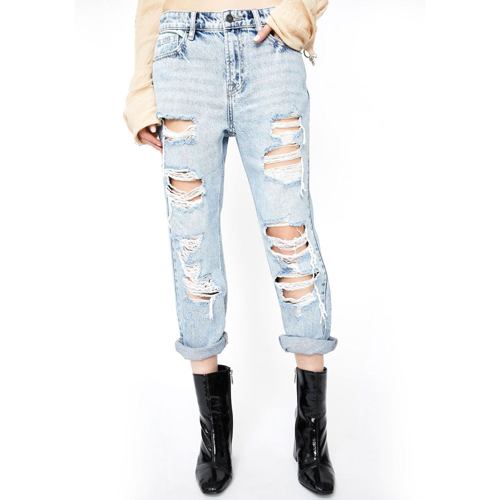 Hidden Bailey Distressed Boyfriend Jean WOMEN - Clothing - Jeans HIDDEN JEANS Teskeys