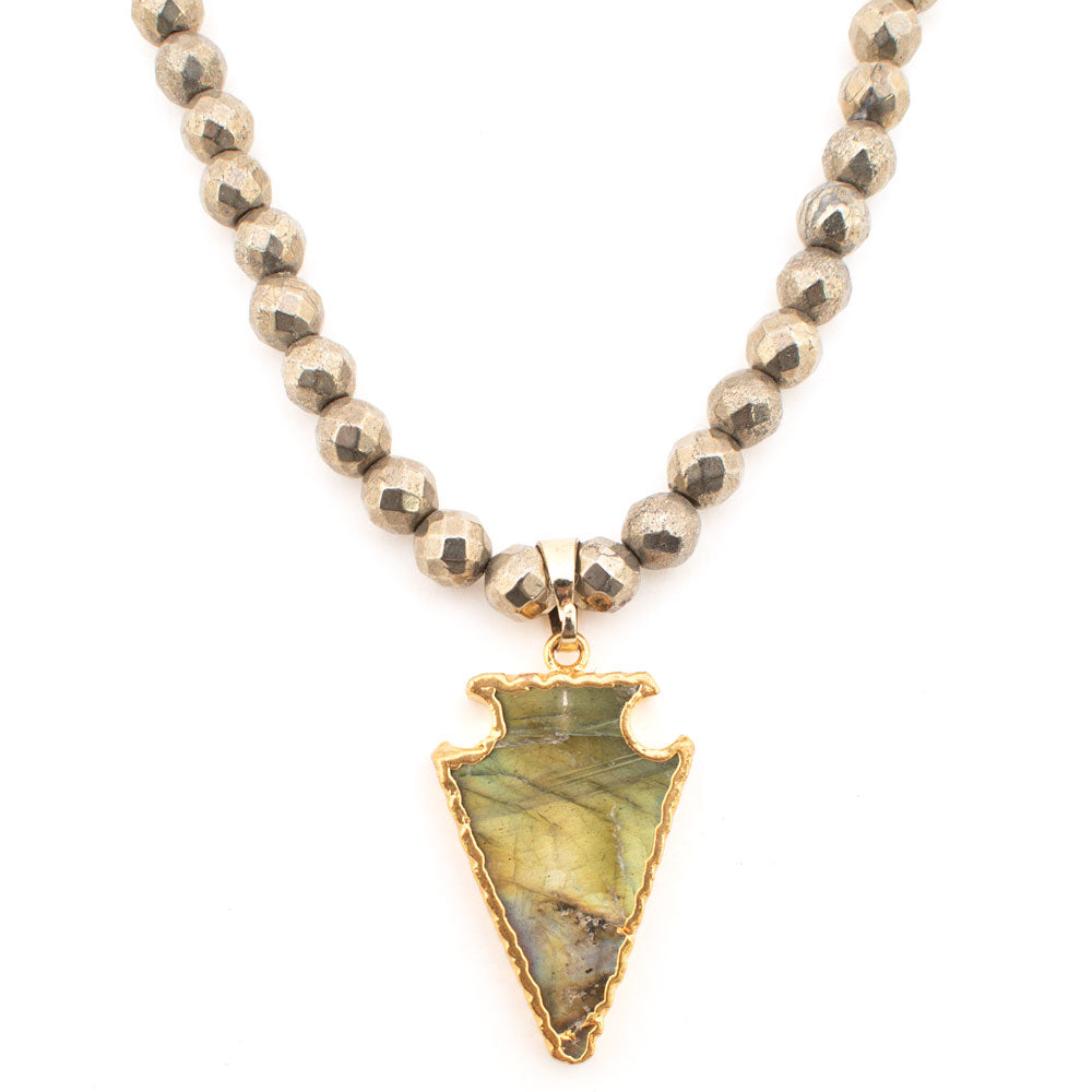 Beaded Necklace with Gold Arrowhead Pendant WOMEN - Accessories - Jewelry - Necklaces MAIN & EXCHANGE DESIGNS Teskeys