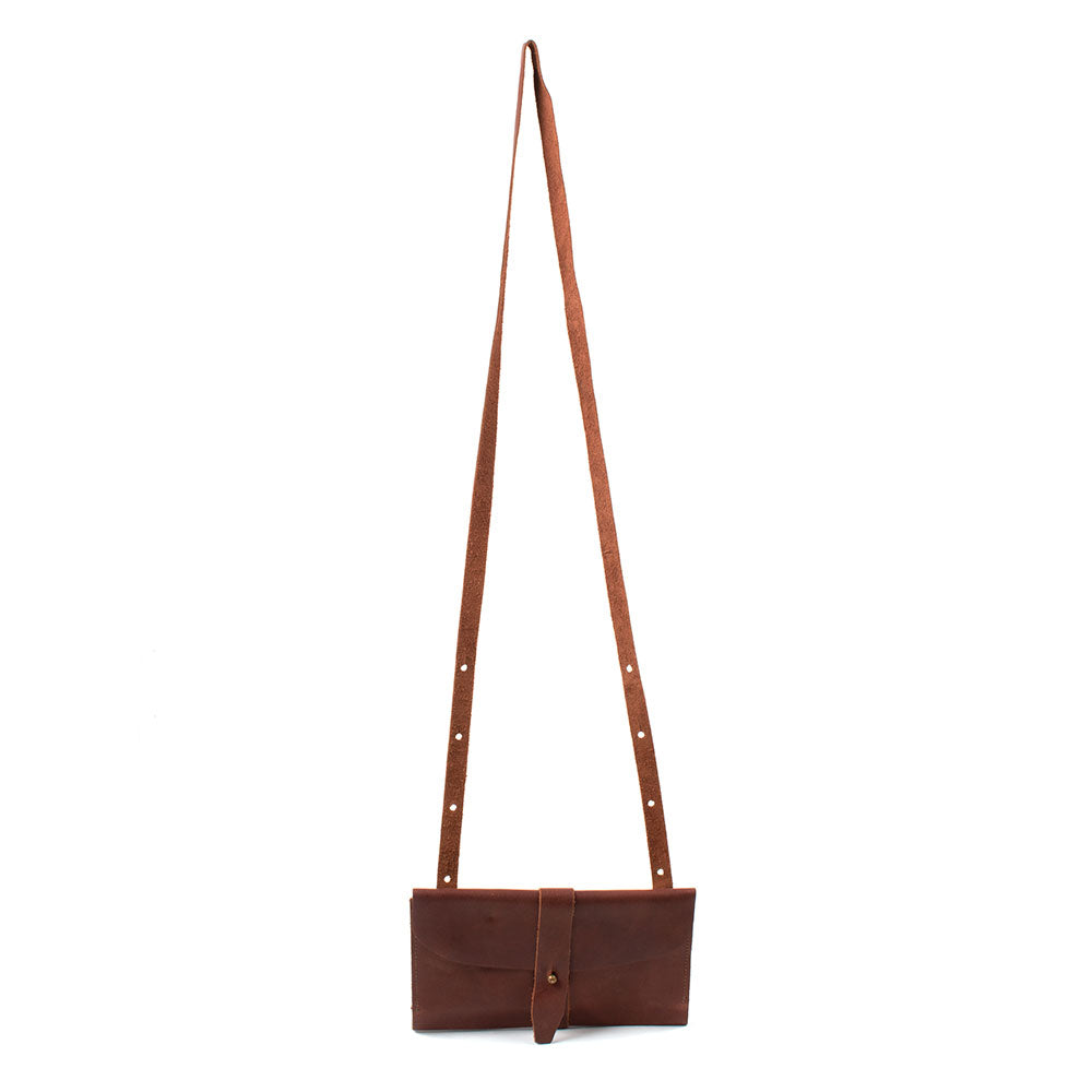 Beddo Mountain Leather Deep Brown Sling Wallet Crossbody WOMEN - Accessories - Handbags - Crossbody bags Beddo Mountain Leather Goods Teskeys